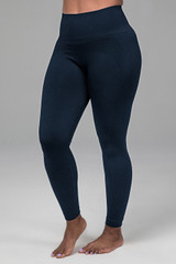 seamless yoga legging in blue