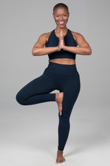 navy yoga outfit