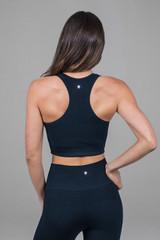 navy sports bra