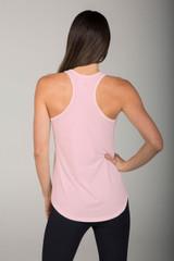racerback yoga top in pink