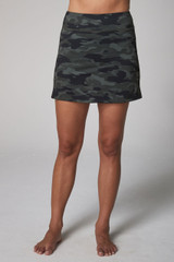 Olive Camo Perfect Skort Front View