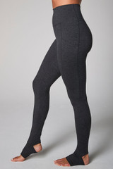 yoga legging with footie feature