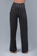 Wide Leg Plaid Pant