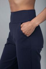 Wide Leg Pockets Navy