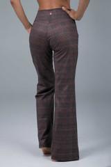 Plumberry Plaid Flare Pant