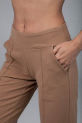Camel Wide Leg Dress Pant