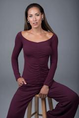 plumberry yoga top