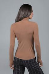 Long Sleeve Tan Turtleneck