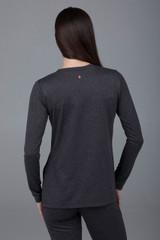 Back long sleeve yoga top
