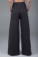 Charcoal heather pleated yoga pants