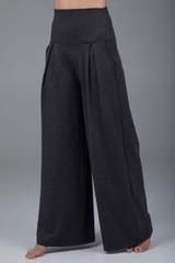 Grey pleated yoga dress pants