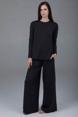 pleated pant with pockets