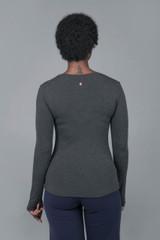 Long Sleeve Gray Yoga Crew
