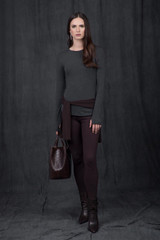 Charcoal Heather and Chocolate Legging