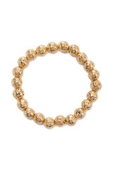 Goldtone Lava Bracelet