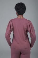 pink yoga sweatshirt