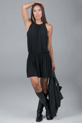black yoga dress