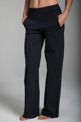 Loose Fitting Black Yoga Pants with Pockets