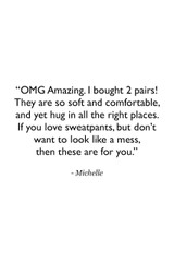 Pocket Yoga Tight in Charcoal Heather Customer Review Quote