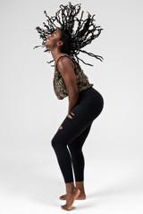 Black High Waisted Cutout Yoga Leggings