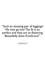 7/8 Legging in Black Customer Review Quote