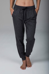 Heather Grey Sweatpant Joggers with Pockets and Drawstring Waistband