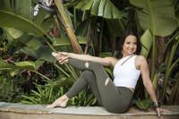 Seva One Shoulder Yoga Crop Top in White