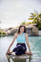 Seva One Shoulder Yoga Crop Top in Calypso