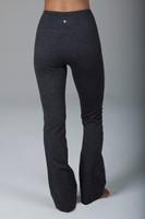 Compressive Grey High Waist Bootcut Yoga Pants back view