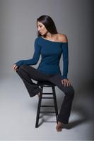 Grey Bootcut Yoga Pants and Long-Sleeve Activewear Set
