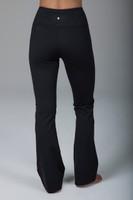 High Waisted Black Bootcut Yoga Pants back view