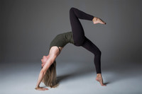 Green Yoga Halter Activewear Outfit Yoga Pose