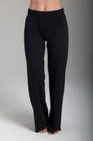 Black Loose-Fit Cotton Sweatpants front view