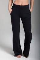 Comfortable Sweatpant Yoga Pants with Pockets in Black