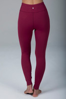 Dark Red Form Flattering Yoga Tights back view