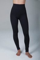 High Waisted Long Yoga Tights with Zippers front view