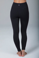 High Rise Black Detailed Yoga Tights back view