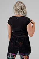 Kathryn Budig Collection Peplum Yoga Tee back view