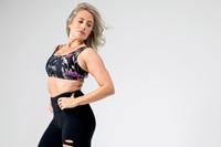 Wildflower Sports Bra and Slashed Legging Outfit Kathryn Budig