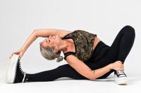 Kathryn Budig Yoga Pose in Black Eternity Yoga Legging