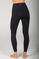 Black High Rise Yoga Legging back view