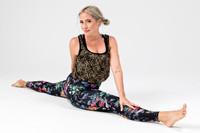 Kathryn Budig Vibrant Yoga Leggings Split