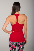Red Racerback Tank Top back view