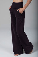 Coffee Colored High Waist Loose Fitting Pant with Pockets