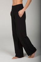 High Rise Wide Leg Traveler Pant in Black