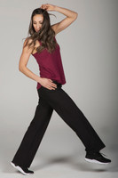 Elegant Black Traveler Yoga Pant and Tank Outfit