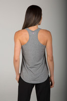 Light Grey Loose Fitting Racerback Top back view