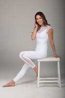 Lovely Sheer White Top and Legging Set