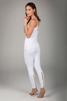 White Activewear Set with Lace Up Detailing