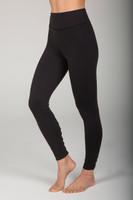High Waist Black Cutout Yoga Tights side view